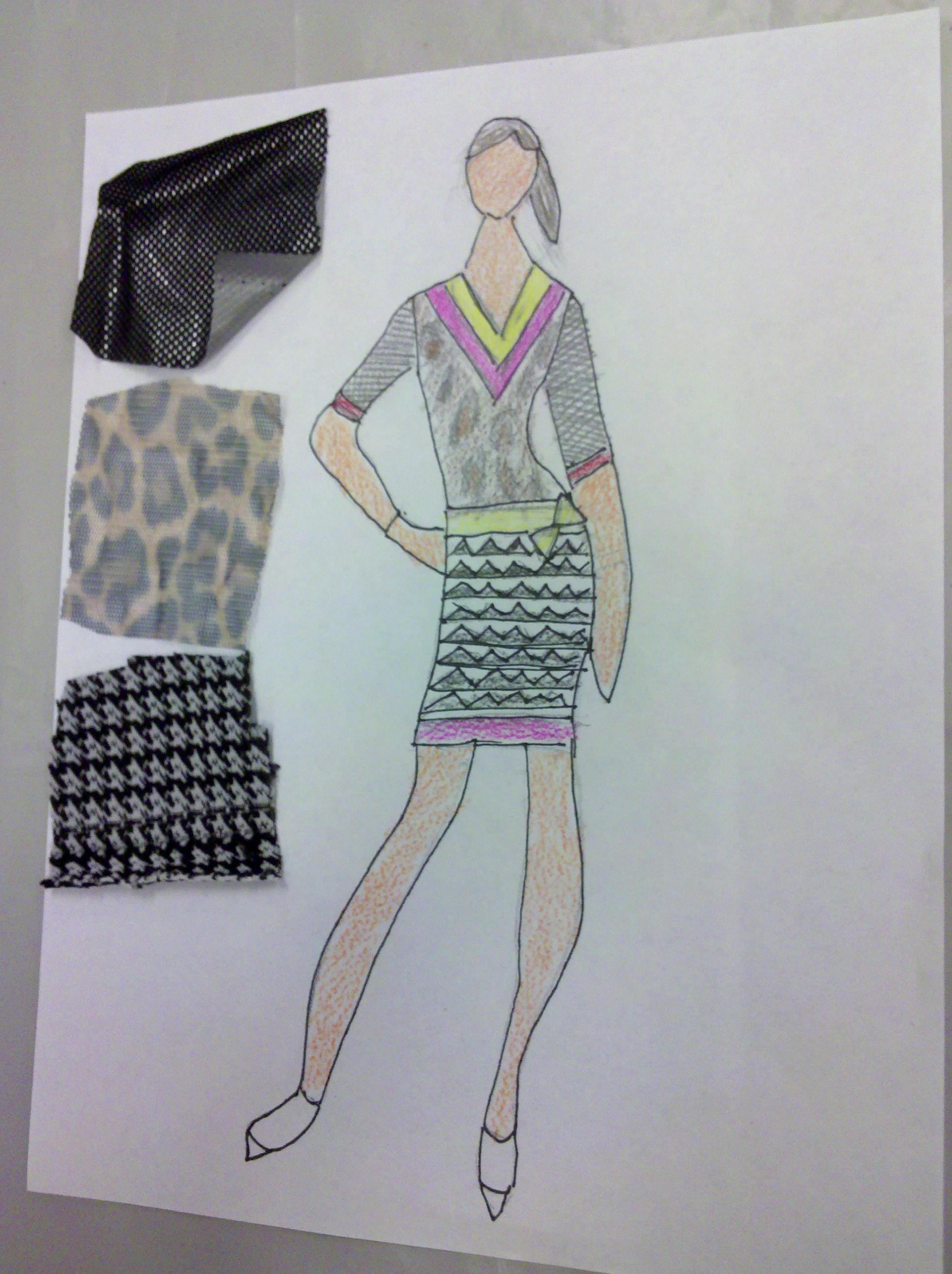 Project runway fashion design sketch portfolio 4
