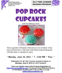 Pop rock cupcakes flyer